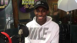 Dre Barnes in the KCOH studio