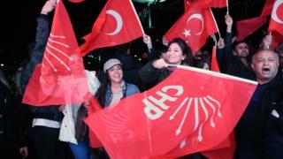 Ankara'da CHP önde.