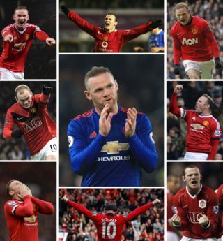 Rooney como diablo rojo