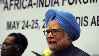 Dr. Manmohan Singh speaks on May 25,2011 during the closure of the second Africa-India Forum Summit