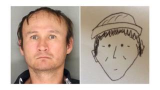 Ảnh đặt phòng và ảnh phác họa của nghi phạm