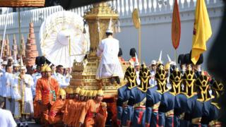 Funeral procession in Bangkok