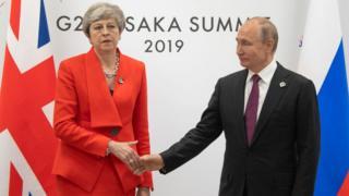 el encuentro entre May y Putin.