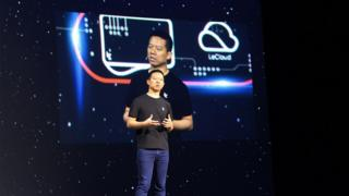 LeEco co-founder and chief executive Jia Yueting, at a press event in San Francisco.