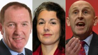 Sir Kevin Barron, Sarah Champion and John Healey