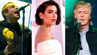 Liam Gallagher, Dua Lipa and Sir Paul McCartney