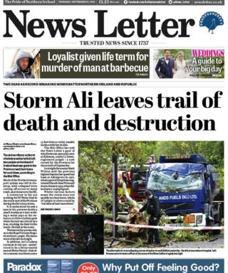 News Letter front page 20/09/18