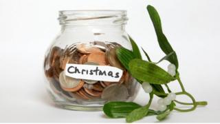 Christmas savings jar