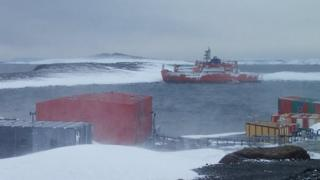 "Tweet by the Australia Antarctic Division saying ""Improved weather should allow expedition members transfer late today, then attempt ship refloat"""