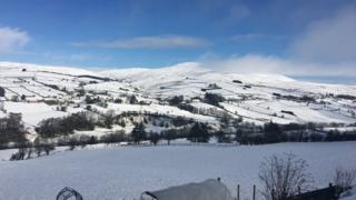 A snowy Glenelly Valley in County Tyrone on Saturday morning
