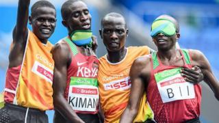 Samwell Kimani, Kenyan, médaille d'or pour la deuxième fois aux Jeux paralympiques
