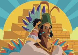 Ilustración de un emperador Azteca.