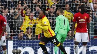 Watford waicharaza Man United 3-1
