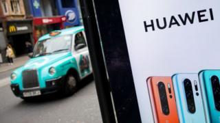 מודעת Huawei בלונדון