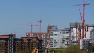 apartment blocks under construction