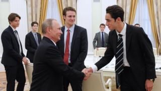 Встреча Владимира Путина со студентами Итона в Кремле