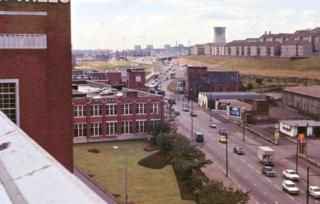 Alexandra Parade to M8 temporary terminus at Townhead (early 1970s)