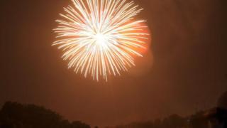 A firework going off