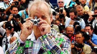 Bill Murray in front of the press pack at the Cannes Film Festival (2012)