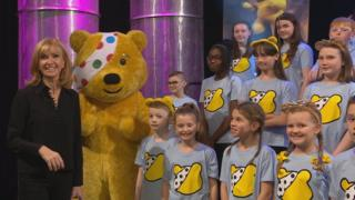 Jackie and Pudsey bear