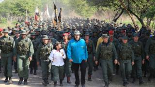 Maduro e militares