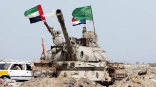 سعودی اور اماراتی ٹینک