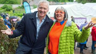 Rory Bremner and Philippa Perry