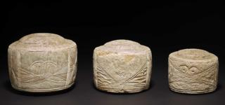 Late Neolithic carved chalk cylinders