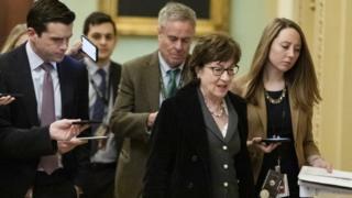 Senator Susan Collins is among four wavering Republicans