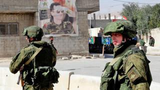 Şam'da Rus askerleri