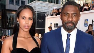 Idris Elba, with im now fiancee, Sabrina Dhowre