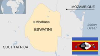 Map of eSwatini