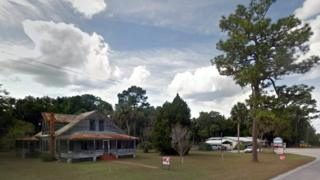 The home in Inglis, Florida, where four people were shot on 1 October