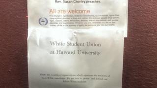 "A poster for Harvard University's ""White Student Union"""