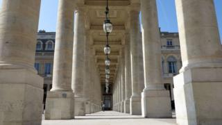 in_pictures A colonnade in the garden of the Palais-Royal, Paris