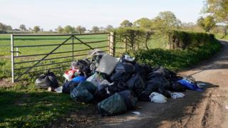 Fly tipping site
