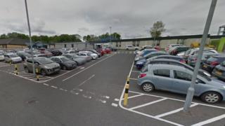 Car park at Monklands