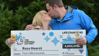When Ross Hearst discovered he had won, he tried ringing his wife Jocelyn 22 times