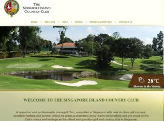 Screencap of the Singapore Island Country Club website on 5 February 2016