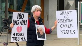 care home protest