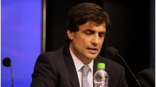 Treasury Minister Hernan Lacunza