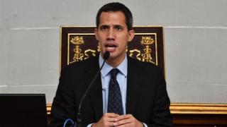 Bwana Guaidó w'imyaka 35 y'amavuko, mu cyumweru gishize yitangaje nka Perezida w'agateganyo wa Venezuela