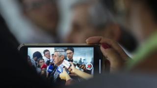General Augusto Heleno em entrevista à imprensa, em foto de arquivo