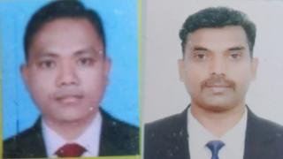 Police in Pakistan released images of the two detained men