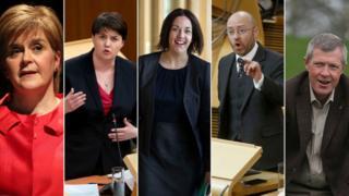Nicola Sturgeon, Ruth Davidson, Kezia Dugdale, Patrick Harvie, Willie Rennie