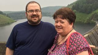 Neil Jones and his mum
