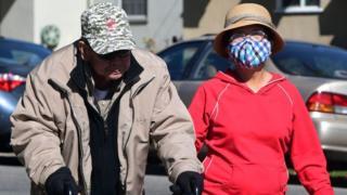 Elderly couple in California