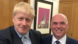 Boris Johnson and Paul Davies