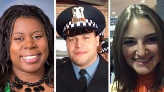 From left: Dr Tamara O'Neal, Officer Samuel Jimenez, and pharmacist Dayna Less