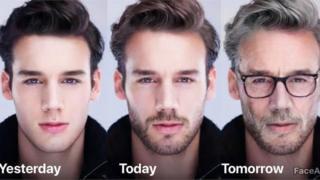 Обличчя різного віку одного чоловіка, створені Face App